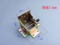 Free shipping 2 pcs folding tea table hinges Furniture hinge  hardware fittings with Screws