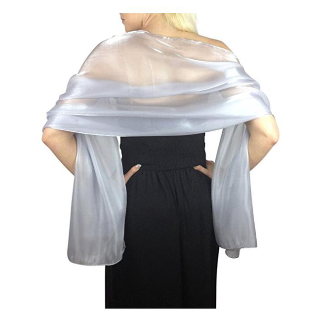 Elegant Bridal Wedding Silver Shawl wraps silky scarves for women evening wraps party wraps Free shipping