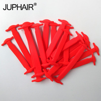 JUP 1 50 Sets Red Unisex Fashion Elastic Silicone Laces Fashion Young Laces No Tie All