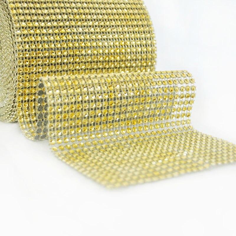 1 həyət Qızıl Sver Mesh Trim Bling Diamond Wrap Roll Tul Kristal - İncəsənət, sənətkarlıq və tikiş - Fotoqrafiya 2