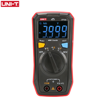 UNI-T Auto Range Mini Digital Multimeter Temperature Tester UT123 Data hold AC DC Voltmeter Pocket Voltage Ampere Ohm Meter цена 2017