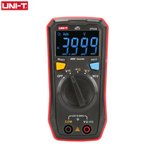 UNI-T Auto Range Mini Digital Multimeter Temperature Tester UT123 Data hold AC DC Voltmeter Pocket Voltage Ampere Ohm Meter(China)