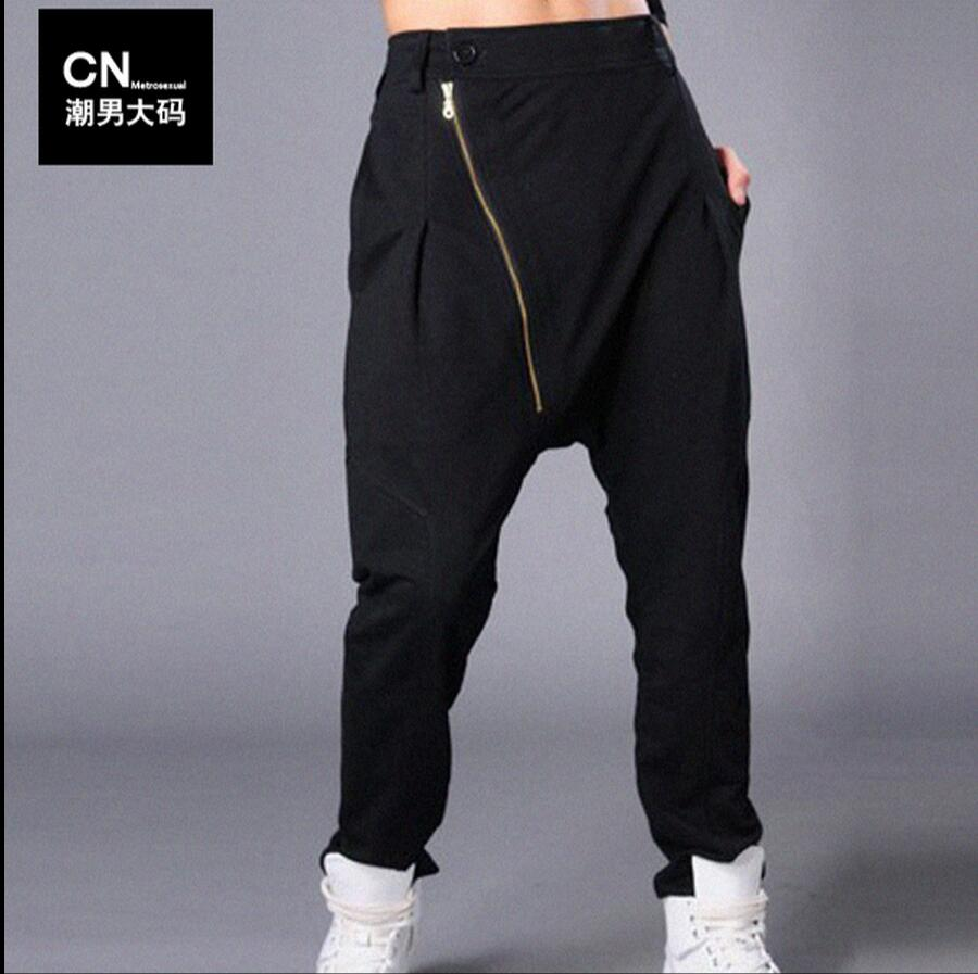 Pantalones Moda Hombres Trajes Tamaño Harem Caliente Verano Ropa Cantante Nuevos Plus Negro Colgando Hiphop De Entrepierna 2019 La qwnxEnI0C
