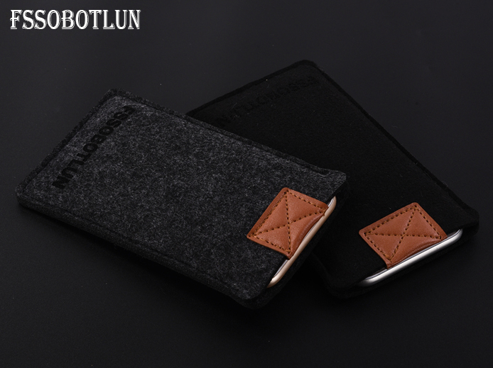 FSSOBOTLUN,Simple Style 3 Colors,Handmade Wool Felt Sleeve Bag Lightweight Pouch For UMIDIGI S Mobile Phone Case Cover