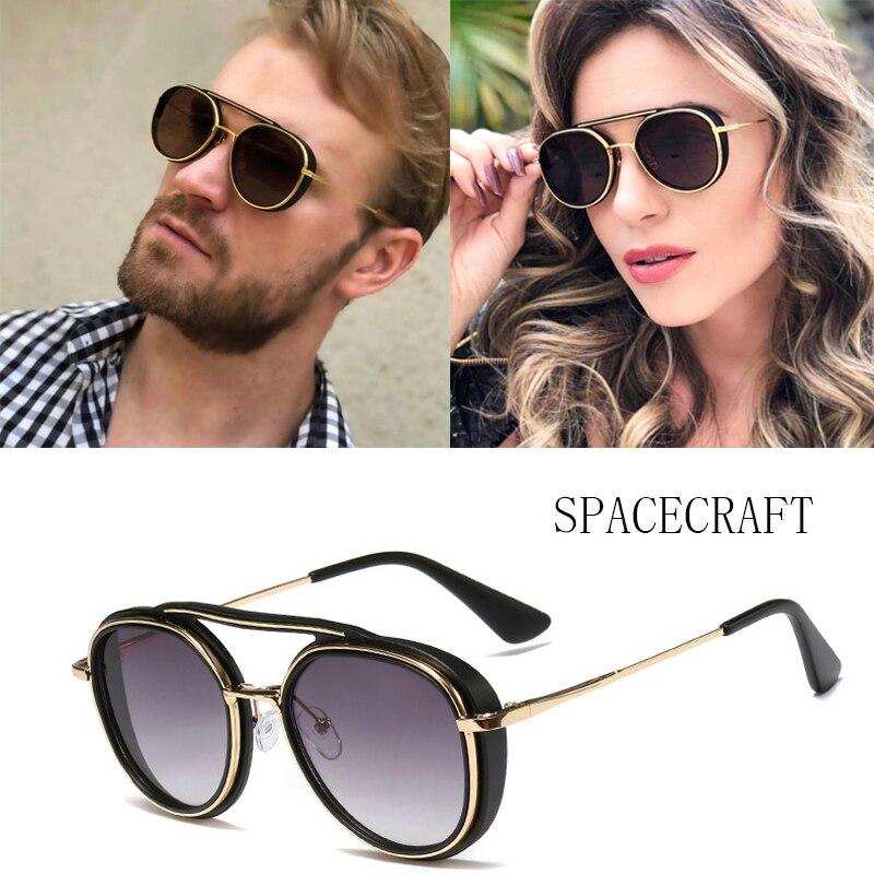Round Women Sunglasses Glass Lens Men Driving Male Eyewear Female Summer Shades