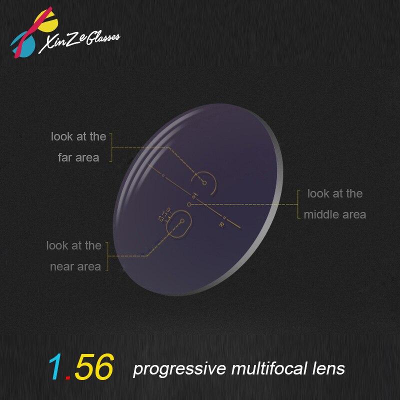XINZE 1.56 Index grand champ intérieur progressif lentille photochromique multifocale Prescription myopie lentilles d'astigmatisme presbyte