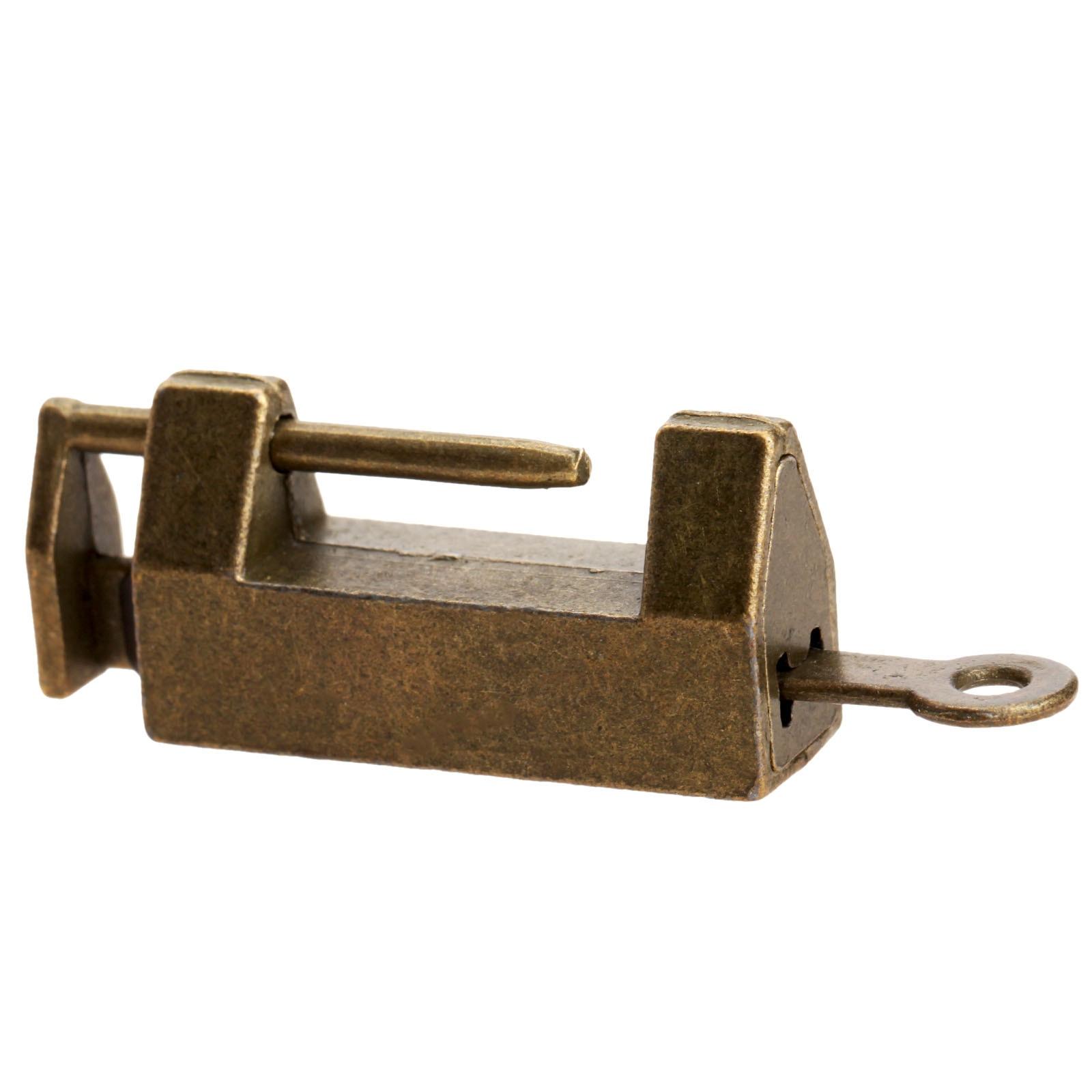 Vintage Meubles cadenas serrure Vin Boîte à bijoux valise Tiroir Armoire Matériel