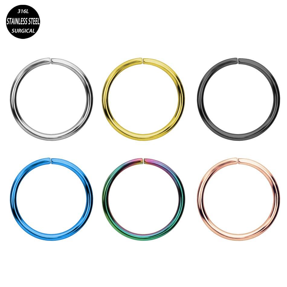 1 Pc Captive Ring Chirurgische Stahl Bead Circular Piercing Cbr Nase Ring Septum Nase Hoops Segment Ringe Körper Schmuck Zu Den Ersten äHnlichen Produkten ZäHlen