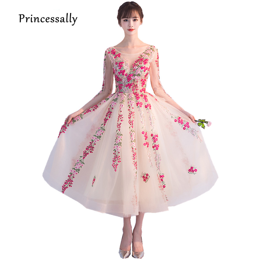 Promoción de Red Formal Gown Flowers - Compra Red Formal Gown ...