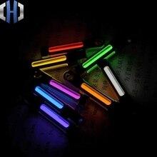 Self-illuminating Xenon Lamp Fluorescent Fluorescent Luminous Life-saving Titanium Pendant Creative Key Ring Signal Light fluorescent tube light microscope ring circular fluorescent