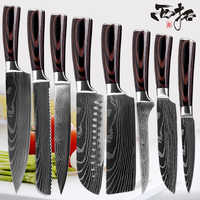 Outstanding Xituo Chef Kitchen Knife Set 8 In Professional Japanese Chef Knives 7Cr17 440C High Carbon Stainless Steel Slicing Santoku Knife Home Interior And Landscaping Ologienasavecom