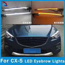 For Mazda cx-5 cx5 2012-2015 DRL Car LED EyeBrow Brow Lights Head Daytime Running Light Turn Signal Style Relay 12V Accessories