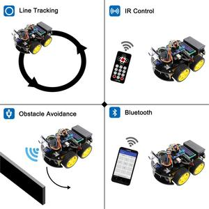 Image 3 - LAFVIN חכם רובוט רכב ערכת עם R3 לוח, קולי חיישן, Bluetooth מודול לarduino UNO