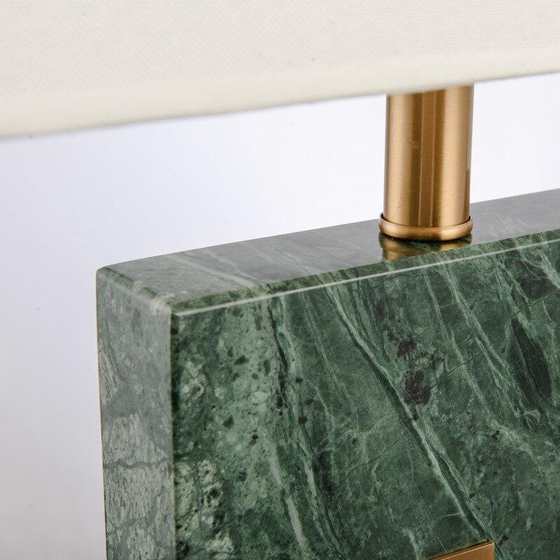 Post Moderne Luxus Grün Marmor Stoff E27 Tisch Lampe Für Wohnzimmer Schlafzimmer  Modell Zimmer Deco H 60 Cm Ac 80 265 V 1433 In Post Moderne Luxus Grün ...
