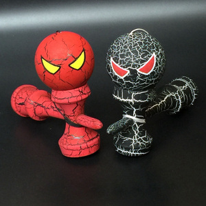 Wooden Full Crack Kendama Professional Cartoon Skillful Jumbo Spider Kendama Outdoors Juggling Game Ball Toys for Gift