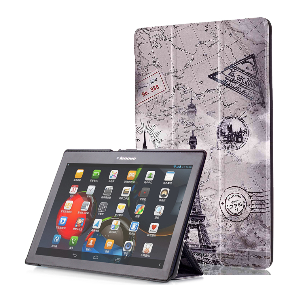Slim Folding Stand Cover Case for Lenovo Tab 2 A10-70 A10-70F A10-30 X30F Tab 3 10 Business TB3-X70F Tab3 10 Plus TAB-X103F+Gift case for lenovo tab 4 10 plus protective cover protector leather tab 3 10 business tab 2 a10 70 a10 30 s6000 tablet pu sleeve 10