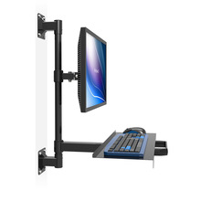 Customized Wall Mount Sit-Stand Desk Assembly Line Work station Free Lifting Full Motion TV