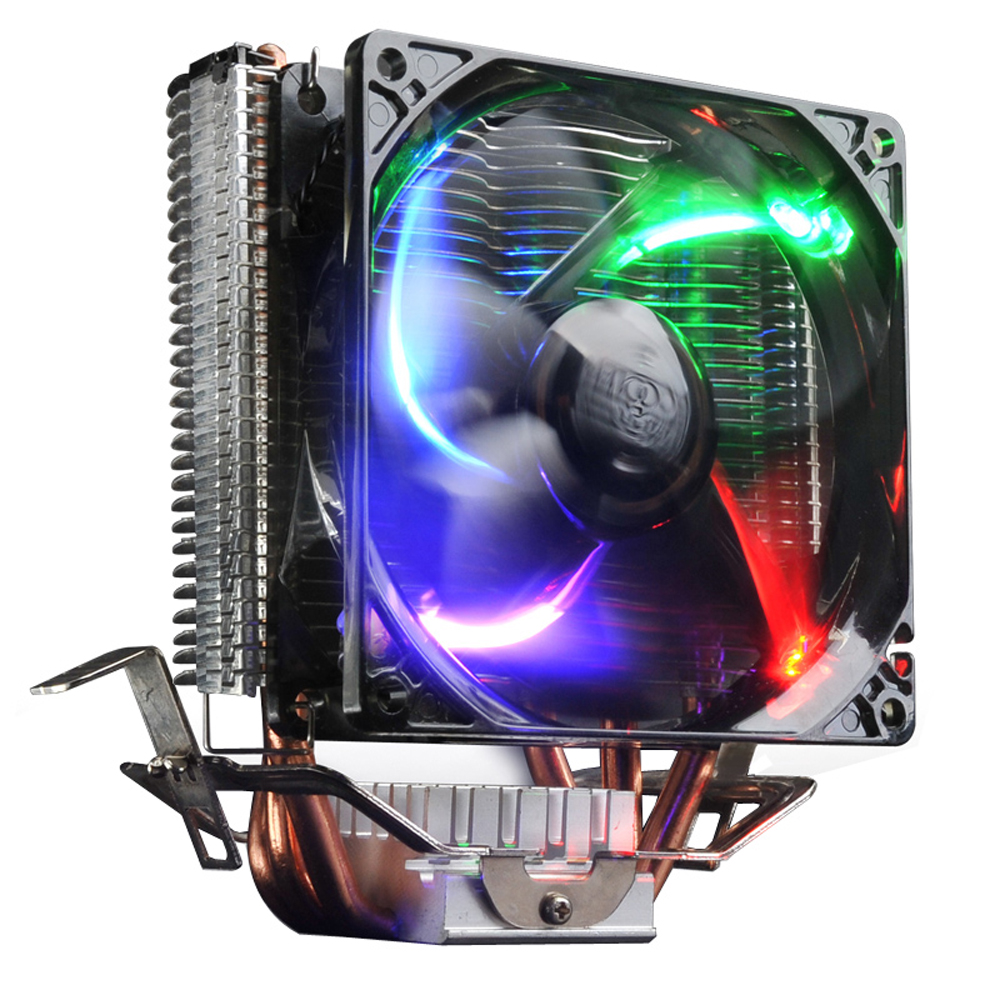 PCCOOLER Ultra quiet 4pin fan CPU cooler radiator for Intel LGA 775/1155/1156/2011 AMD AM2+/AM3/FM1/AM2/939 fans cooling three cpu cooler fan 4 copper pipe cooling fan red led aluminum heatsink for intel lga775 1156 1155 amd am2 am2 am3 ed