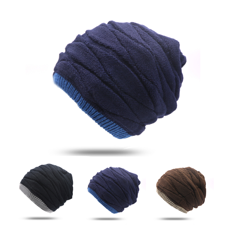 1pcs Brand Beanies Knit Men's Winter Hat Caps Skullies Bonnet Homme Winter Hats For Men Women Beanie Fur Warm Baggy Knitted Hat 2pcs beanies knit men s winter hat caps skullies bonnet homme winter hats for men women beanie warm knitted hat gorros mujer