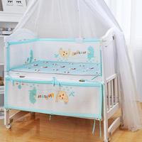 Crib Enclosure Baby Bedding 3D Breathable Crib Enclosure Crotch Bucha Crib Barrier For Newborn Baby Bumper Guard Rail|Bedding Sets| |  -