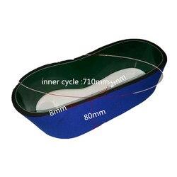 Niebieski przenośnika taśmowego z MT-200 okrągłe butelki Labeler części zamienne 710*80mm rozmiar