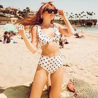 Bikini retro cintura alta puntos 2