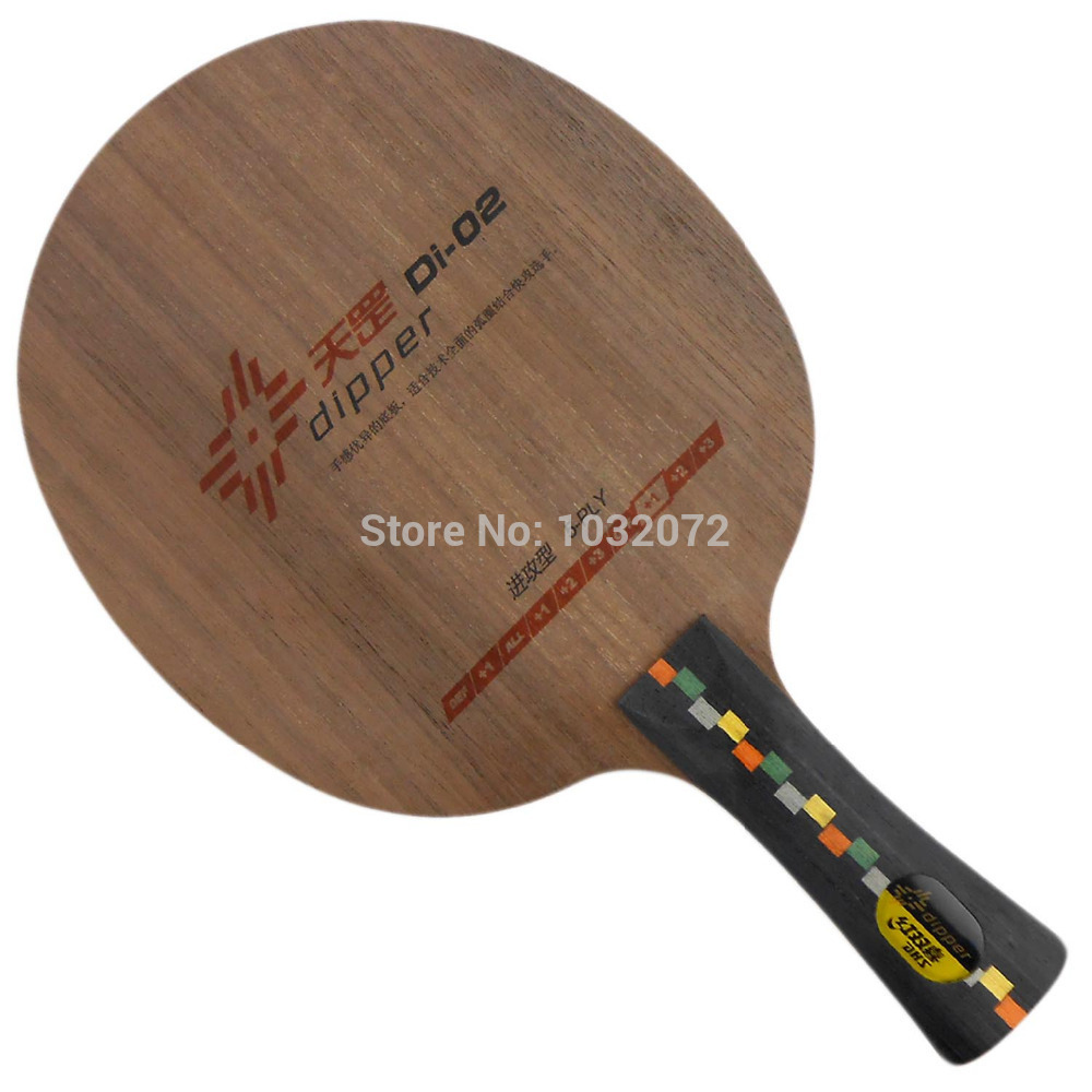 DHS DIPPER Di-02 OFF+  5 Plywood  Fitted play Loop  Quick-attack Shakehand Table Tennis PingPong BladeDHS DIPPER Di-02 OFF+  5 Plywood  Fitted play Loop  Quick-attack Shakehand Table Tennis PingPong Blade