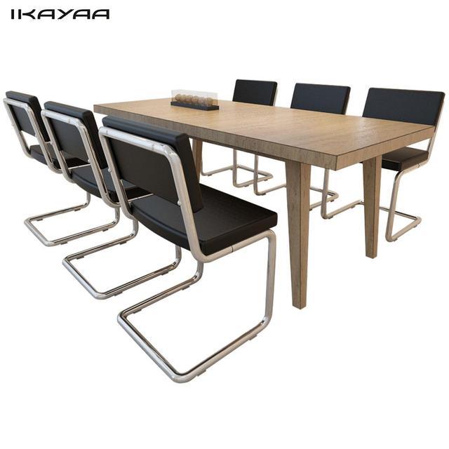 Us 47665 Ikayaa 6 Stks Eetkamerstoelen Moderne Ontwerp Zwart Imitatie Lederen Stoelen Voor Eetkamer Es Voorraad In Ikayaa 6 Stks Eetkamerstoelen