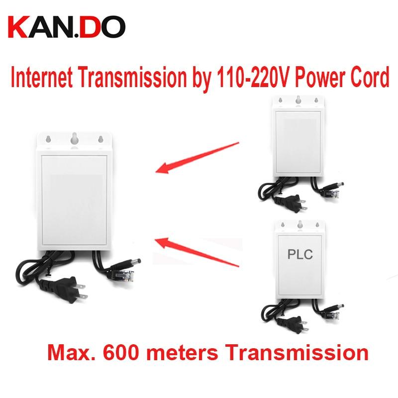 rainproof power adaptor 12V 2A network transmission by 110 220V cord up to 600m PLC DC 12V power network transmitter for cctv