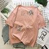 Cartoon T Shirt Women Summer Tops O-Neck Loose 3