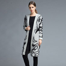 Long Loose Cardigan Women 2019 Spring Casual Long Sleeve Ladies Gray Knitted Oversize Sweater Coat Cardigans Jumper Cotton(China)