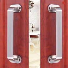 купить Practical Stainless Steel Brushed Sliding Knob Door Handle drawer pulls For Furniture Glass Wooden door Accessories Hardware дешево