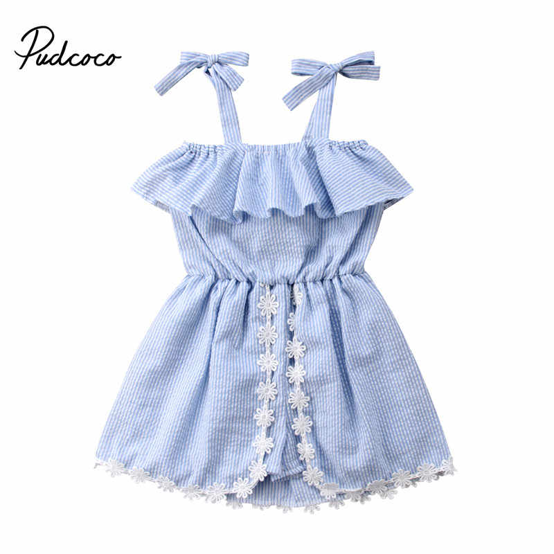 afbb2b57668 2018 New Summer Baby Girls Strap Vest Rompers Lace Ruffles Jumpsuit Baby  Clothing Princess Toddler Overalls