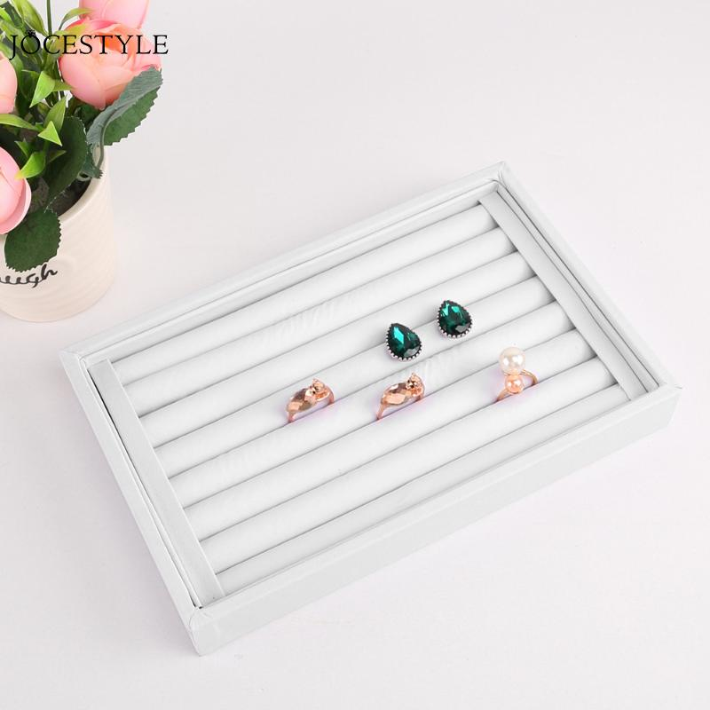 5 Colors Elegant Velvet Earrings Ring Organizer Ear Studs Jewelry Display Stand Holder Rack Showcase High Quality Jewelry Rack