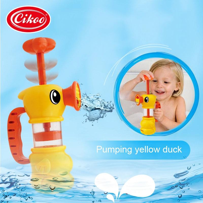 Children Bath Toy Duck Kids Bathroom Bathtub Pool Swimming Shower Playing Spray Water Pump Toys For 0-12 Months Baby M09