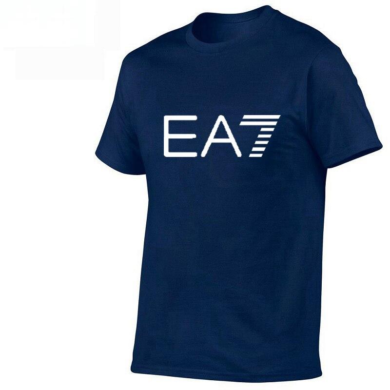 26 models popular   T     shirt   EA7 design brand logo Tshirt men/women   T  -  shirt   men 100% cotton comfortable   shirt   streetwear 2019