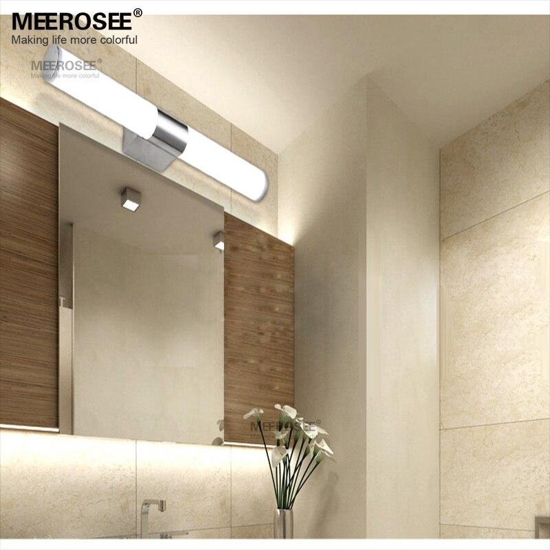 Modern Wall light 12W Acrylic restroom lighting LED Mirror wall ...