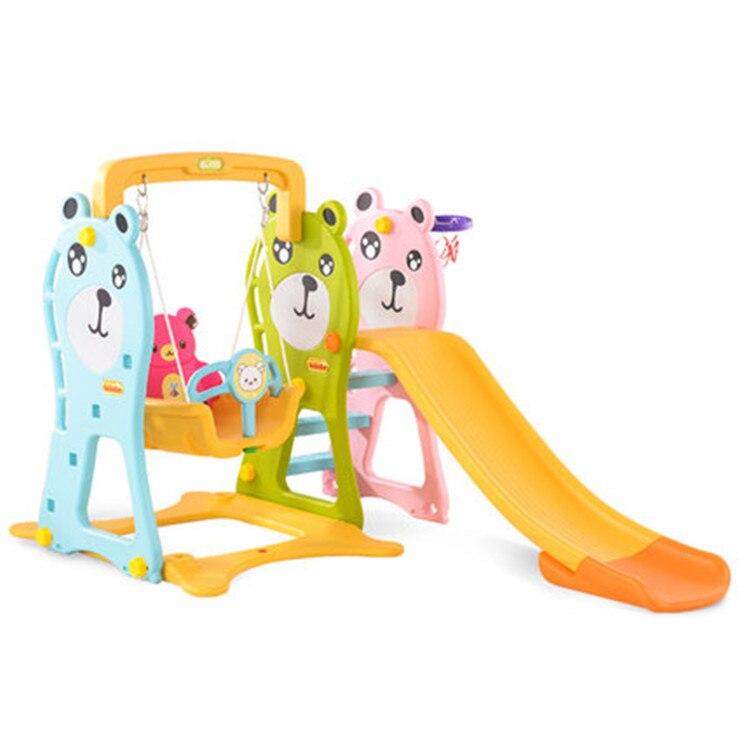 LK84 maison intérieur combiné jouet de jeu pour enfants maternelle allonger petit curseur balançoire importé PE ours large conseil enfants jouet