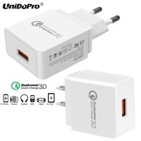 UNIDOPRO Quick Charge QC 3 0 18W US EU Plug AC Wall Charger For IPad Pro