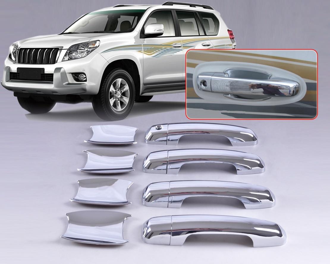beler New Chrome Door Handle Cover + Cup Bowl combo for Toyota Land Cruiser Prado J 150 FJ150 2010 2011 2012 2013 2014 2015