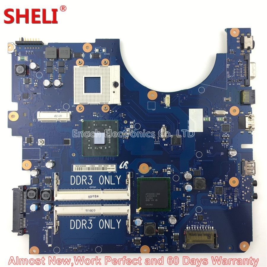 SHELI BA92-06340A BA92-06340B Laptop Motherboard For Samsung R730 NP-R730 BA41-01224A BREMEN-UL GL40 Main Board System Board 100% working laptop motherboard for samsung rv420 ba92 08731b series mainboard system board