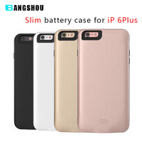 Top Quality 7500mAh Battery Charger Case for iPhone 6 Plus Battery Case Cover Elegant Charging Power Case Slim White Rose Gold