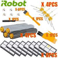 Para IRobot Roomba Kit de piezas de la serie 800 de 860, 865, 866, 870, 871, 880, 885, 886, 890, 900, 960, 966, 980, y pinceles y filtros
