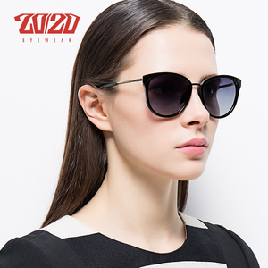Image 2 - 20/20 Polarized sunglasses women Retro Style Metal Frame Sun Glasses Famous Lady Brand Designer Oculos Feminino 7051