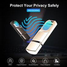 Arealer USB2.0 chiffrement d'empreintes digitales USB Flash disque U disque mémoire chiffrée conception métallique pour la sécurité des données professionnelles/personnelles