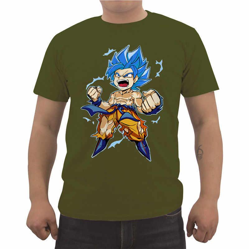 Новый Dragon Ball Z футболка Гоку Для мужчин, Детская футболка с рисунком из аниме мужской футболка DragonBall Повседневное Изделие из хлопка с короткими рукавами футболка классная Футболки-топы