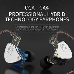 Image 4 - Cca CA4 1BA + 1DD Headset Oordopjes Hybrid In Ear Oortelefoon Hifi Monitor Running Sport Oortelefoon Met Detacable Detach 2PIN kabel