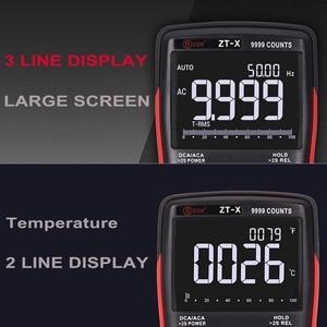 Image 3 - Bside ZT X true rms multímetro digital 3 line triple display 9999 contagens ac/dc tensão temperatura capacitância tester dmm zt301