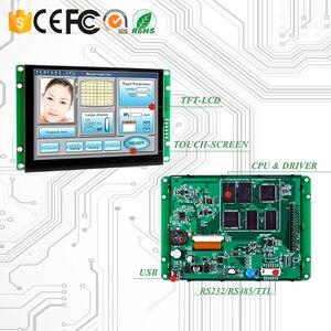 """4,3 """"резистивный HMI Сенсорный экран промышленная панель управления с контроллером + программа + сенсорный + UART серийный интерфейс человеческа..."""