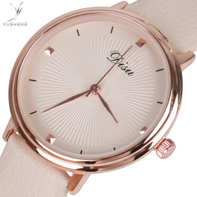 2018 YUSHENG Watches women top famous Brand Luxury Casual Quartz Watch female La